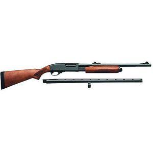 "Remington 870 Express Super Magnum Pump Action Shotgun 12 Gauge Combo 26"" & 20"" Barrels Up to 4 Rounds Checkered Hardwood Stock Blue Barrels"