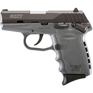 "SCCY Industries CPX-1 Semi Auto Handgun 9mm Luger 3.1"" Barrel 10 Rounds Gray Polymer Frame with Black Nitride Finish"
