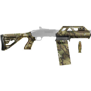 Adaptive Tactical Venom Conversion Kit for Mossberg 500 with 10 Round Box Magazine Raptor Forend M4 Style Stock Multi-Cam Finish AT-04023