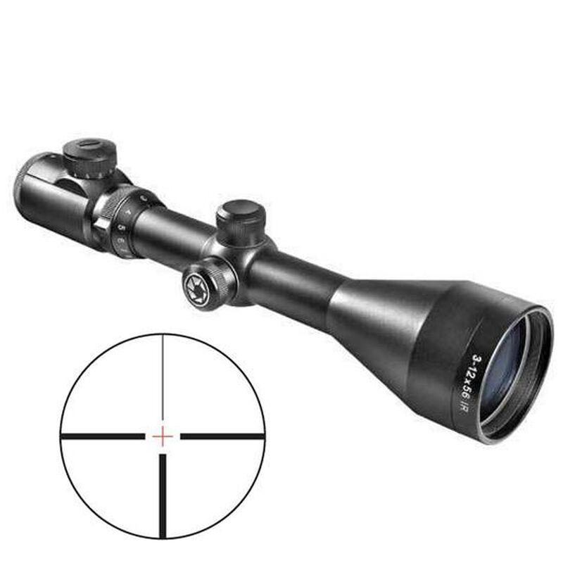 "Barska EURO-30 Pro Rifle Scope 30mm Tube 3-12 x 56mm 4A Illuminated Cross Reticle 1/4"" MOA Adjustments Matte Finish"