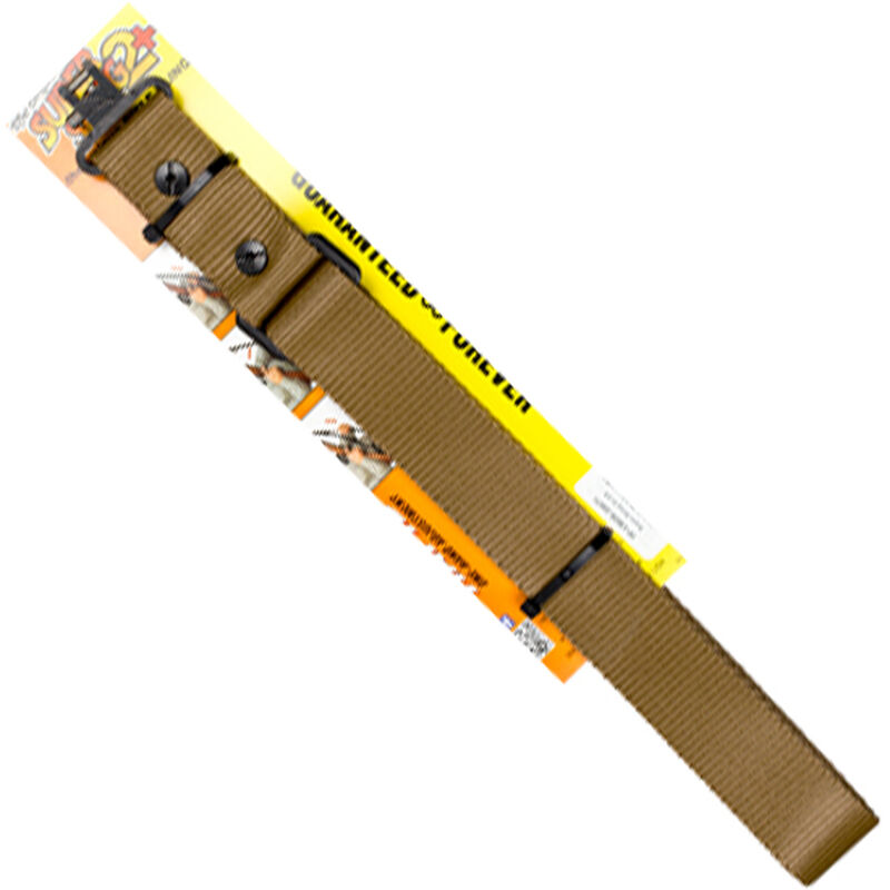 """The Outdoor Connection Super-Sling 2+ 1.25"""" Wide Two-Point Sling with Swivels Synthetic Coyote Brown"""