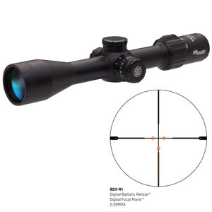 SIG Sauer SIERRA3BDX 4.5-14X44mm Riflescope Illuminated BDX-R1 Digital Reticle 30mm Tube 0.25 MOA Adjustment Side Focus Parallax Black