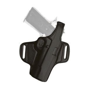Tagua Gunleather Thumb Break Belt Holster Springfield XDs OWB Belt Slide Holster Right Hand Plain Black BH1-635