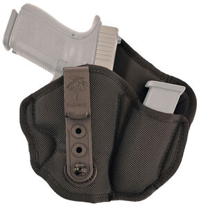 DeSantis Inner Piece 2.0 Holster IWB with Magazine Pouch for SIG Sauer P320C and Similar Right Hand Nylon Black