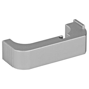Bastion Extended Magazine Release For Glock Gen 4 9mm/.40 cal Aluminum Silver