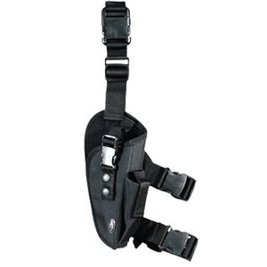 Leapers UTG Elite Tactical Leg Holster Right Hand Draw PVC Outer Shell Soft Lining Black PVC-H168ET