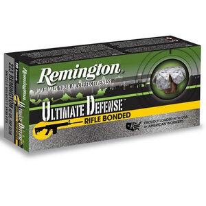 Remington Ultimate Defense .223 Remington Ammunition 20 Rounds 62 Grain Core-Lokt Ultra Bo