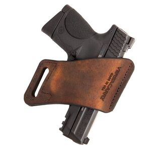 VersaCarry Arma Size 1 Belt Holster Right Hand Leather Distressed Brown Fits Full Size Autos