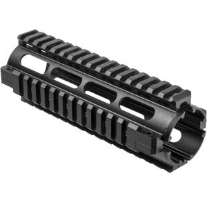 NcSTAR's 3rd Generation MAR4S AR15/M4 Carbine Length Quad Rail Handguard Drop In Aluminum Anodized Black