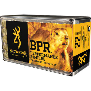 Browning BPR Hunting .22 LR Ammunition 37 Grain Fragmenting Hollow Point 1400 fps