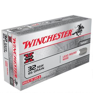Winchester Super X .32 S&W Ammunition 50 Rounds, LRN, 85 Grains