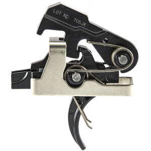 Geissele Automatics Super MCX SSA Trigger Geissele Curved Trigger Shoe Semi-Automatic Two Stage 4.5lbs Non-Adjustable Steel Black