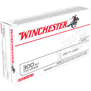 Winchester .300 Blackout Ammunition 200 Rounds FMJ 125 Grains
