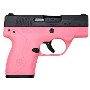 "Beretta Nano 9mm Semi Auto Pistol 3"" Barrel 8 Rounds Pink Polymer Frame Matte Black Slide"