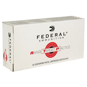 Federal Range Target Practice .45 ACP Ammunition 50 Rounds 230 Grain Full Metal Jacket 830fps