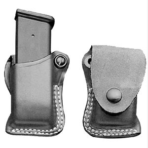"DeSantis F.T.U. Magazine Pouch Right Hand Fits GLOCK 43 Magazine 1-1/2"" Belt Leather Black"