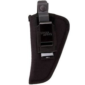 "Uncle Mike's Side Kick Belt Holster Size 2 3""-4"" Medium/Large Double Action Revolvers Ambidextrous Nylon Black MO70020"