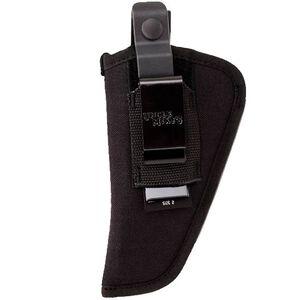 "Uncle Mike's Side Kick Belt Holster Size 2 3""-4"" Medium/Large Double Action Revolvers Ambidextrous Nylon Black MO70020"