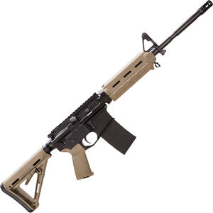 "Bushmaster XM-15 MOE M4-Type Carbine 5.56 NATO AR-15 Semi Auto Rifle 16"" Barrel 30 Rounds FDE Magpul Moe Furniture Collapsible Stock Black Finish"