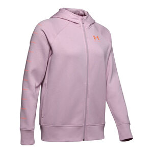 Under Armour Women's UA Rival Fleece Sportstyle LC Sleeve Graphic Hoodie