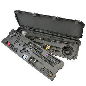 "SKB iSeries 3-Gun Competition Case 50"" x 14.50"" x 6"" Custom Foam Interior Latch Closure Carry Handle Waterproof Hard Shell Polymer Matte Black 3i-5014-3G"