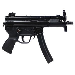 "Century Arms AP5-P 9mm Luger Semi Automatic Pistol 5.8"" Barrel 30 Rounds Roller-Lock Delayed Blowback Action Rear Drum Sight Matte Black"