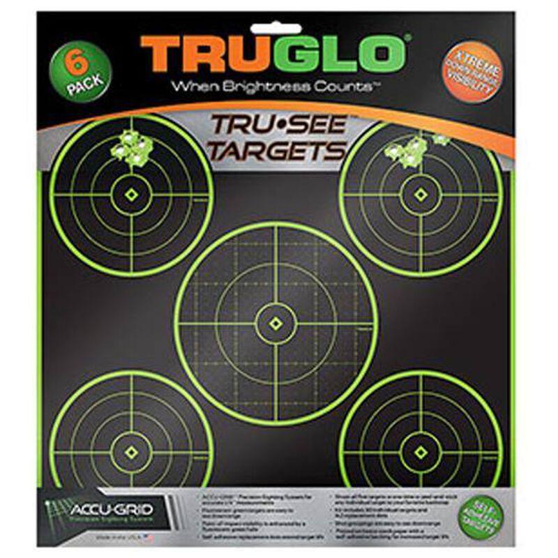 "TRUGLO Tru-See 12""x12"" Self Adhesive 5 Bull Target 6 Pack TG11A6"