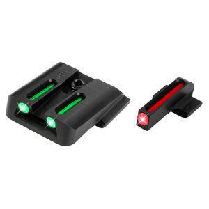 TruGlo Brite-Site Fiber Optic Sight Set for S&W M&P Models 3 Dot Sights CNC Machined Steel Housing Matte Black Finish