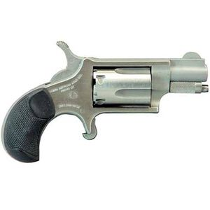 """North American Arms .22 LR Mini-Revolver 5 Rounds 1.125"""" Barrel Rubber Grips with Cobblestone Texture Stainless Frame and Finish"""