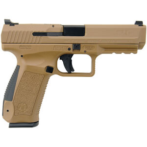 "Century Arms TP9SA Mod.2 9mm Luger Semi Auto Pistol 4.46"" Barrel 18 Rounds Warren Tactical Sights Polymer Frame FDE"