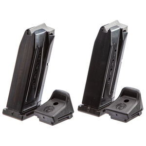 Ruger Security-9 Compact 10 Round Magazine 9mm Luger Alloy Steel Black Oxide Finish 2 Pack