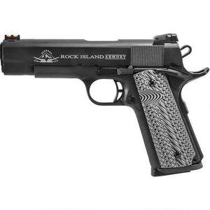 "Rock Island Armory TAC 1911 II Semi Auto Handgun 9mm Luger 5"" Barrel 9 Rounds Fiber Optic Front Sight Skeletonized Hammer/Trigger Steel Parkerized"