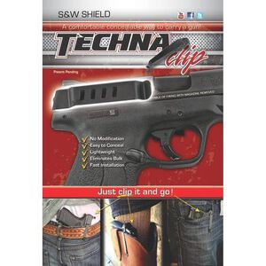 Techna Clip S&W Shield 9/40 Right Handed High Carbon Steel Black SHBR