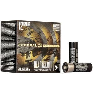 """Federal Black Cloud FS Steel High Velocity 12 Gauge Ammunition 3"""" #4 1-1/8 Oz Steel Shot 1635 fps"""