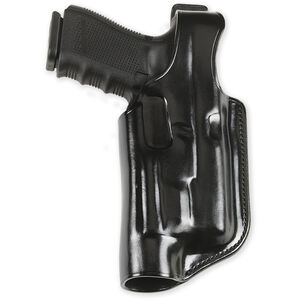 Galco Belt Holster Fits Glock 17 22 and 31 With Halo Weapon Lights Right Hand Black Leather HLO224B