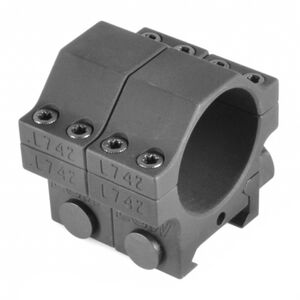 "EGW Heavy Duty 30mm Tactical Scope Rings Low Height .850"" Billet Aluminum Anodized Finish Matte Black Finish"