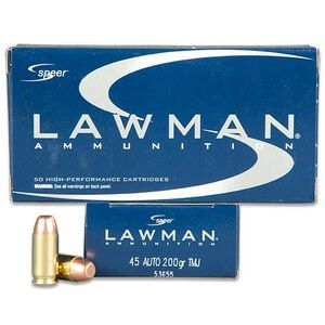 Speer Lawman .45 ACP Ammunition 50 Rounds TMJ 200 Grains 53655