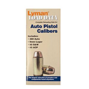 Lyman Load Data Book Semi Auto .380ACP, .9mm, .40 S&W, .45ACP