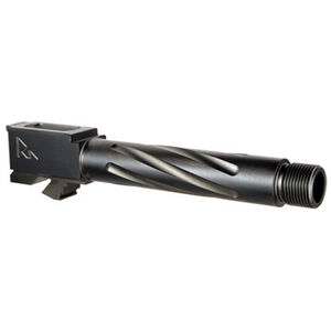 Rival Arms Barrel for GLOCK 17 Gen 3/4 Models 9mm Luger Fluted/Threaded 1/2x28 416R Stainless Steel PVD Coating Black Finish