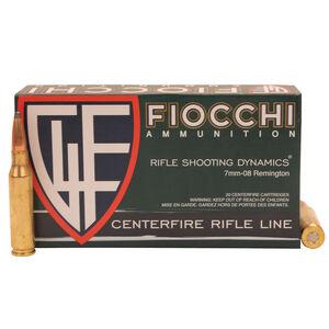 Fiocchi Shooting Dynamics 7mm-08 Remington Ammunition 20 Rounds 139 Grain Interlock Boat Tail 2800fps
