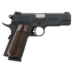 "Taurus Commander 1911 .45 ACP Semi Auto Pistol 4.20"" Barrel 8 Rounds Walnut Wood Grips Novak Sights Matte Black Finish"