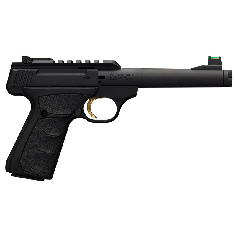 "Browning Buck Mark Plus Camper UFX SR .22 LR Semi Auto Rimfire Pistol 6"" Threaded Bull Barrel 10 Rounds F/O Front Sight UDX Grips Black"