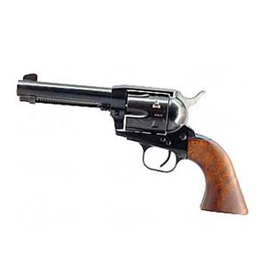 """European American Armory Bounty Hunter Revolver Single Action Army .22LR / .22WMR, 4.75"""" Barrel, Alloy Blue Finish, Walnut Grips, 8 Rounds, 2 Cylinders Included, Right Hand, 41.6oz , Fixed Sights 771120"""