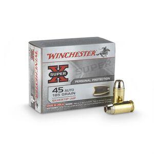 Winchester Super X .45 ACP Ammunition 185 Grain Silvertip JHP 1000 fps