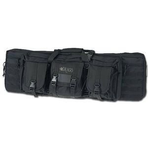"Drago Gear 36"" Double Gun Case Tactical Soft Case 600 Denier Nylon MOLLE Panels Matte Black"