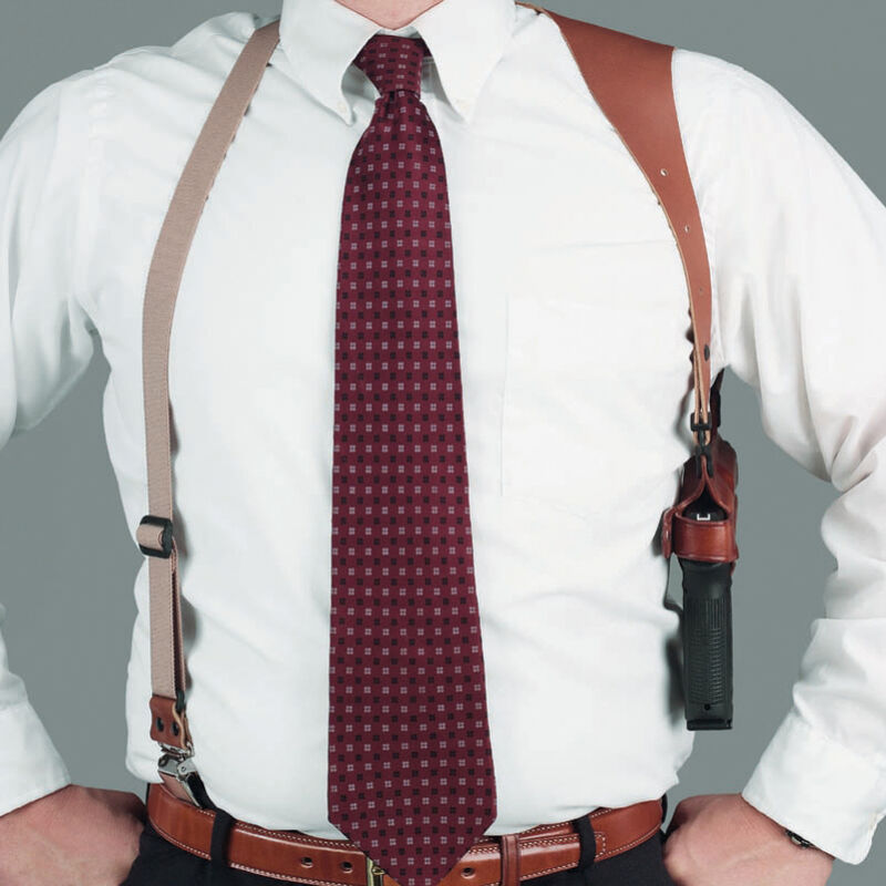 Galco Half Harness with Belt Clip Shoulder Holster Component, Tan