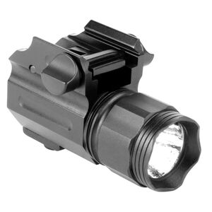Aim Sports Sub-Compact 330 Lumen Weapon Light With Lens Filters Picatinny Compatible Aluminum Black