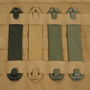 """BLACKHAWK! S.T.R.I.K.E. Speed Clips Polymer 3"""" Length OD Green 6 Pack"""