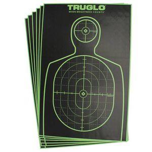 "TRUGLO TRU-SEE 12""x18"" Handgun Silhouette, Green, 12 Pack TG13A12"
