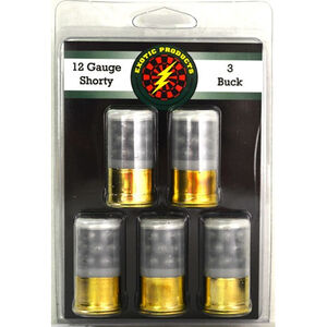 "Exotic Shorty 12 Gauge Mini Ammunition 5 Rounds 1.75"" #3 Lead Buck Shot 00516"